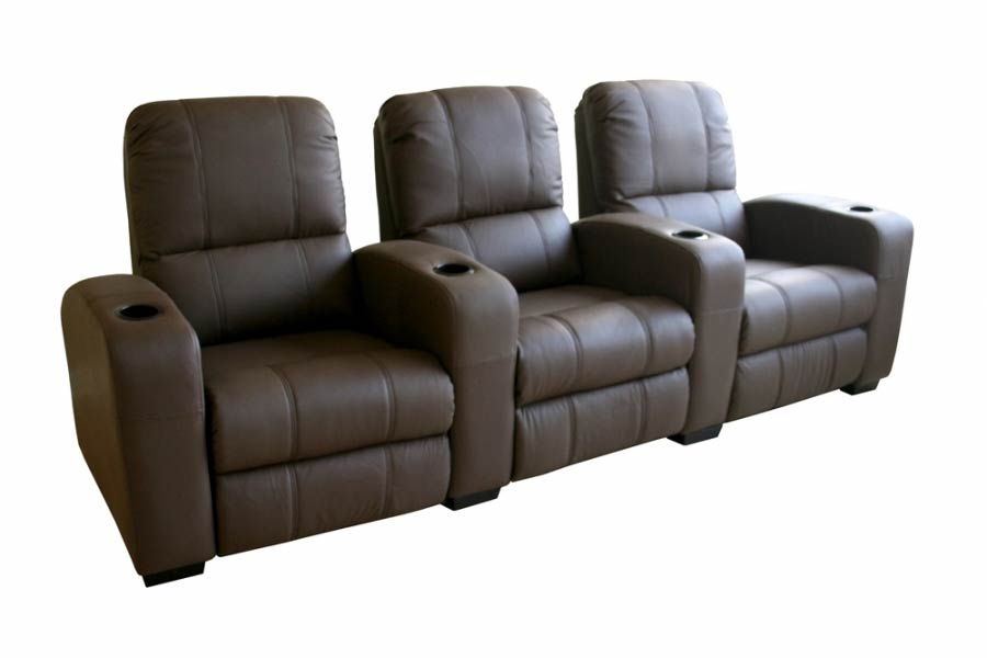 Classic Movie Seating Sofa 3 Piece Set in Brown - HT638