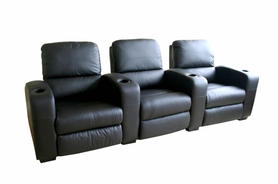 Classic Movie Seating Sofa 3 Piece Set in Black - HT638