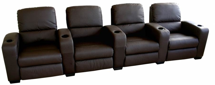 Classic Movie Seating Sofa 4 Piece Set in Brown - HT638